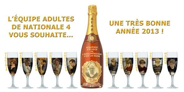 Champagne nouvel an équipe adultes