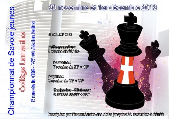 Affiche championnat de Savoie jeunes 2013 A4