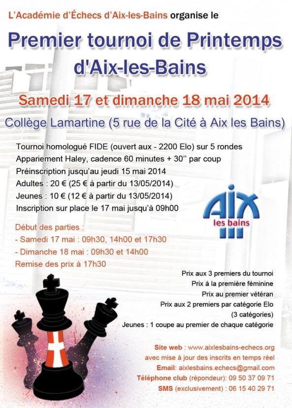 Affiche 1er tournoi de Printemps d'Aix-les-Bains
